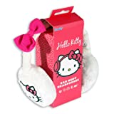 Hello Kitty Cosy Kitty Knitted Ear Muff Headphones White with Pink Bow