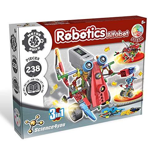 Science4you-Robotics Robotics Alfabot 3 En 1-Juguete Científico...
