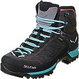 Salewa WS Mountain Trainer Mid Gore-TEX Scarponi da trekking e da escursionismo, Magnet/Viridian Green, 40 EU