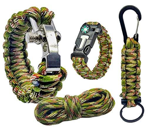 Bracelet Survie kit de Survie Catastrophe BUSHCRAFT | Bracelet Corde...
