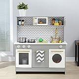 Teamson Kids - Little Chef Berlin Modern Play Kitchen - Gray / White