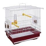 Ferplast Cage pour Canaris et Petits Oiseaux Exotiques Giusy Cage Rectangulaire pour Oiseaux, Métal Robuste...