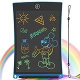 GUYUCOM Bunte Schreibtafel LCD Kinder 8.5Zoll, Elektronisches Schreibtablet mit hellerem Bildschirm, löschbarer und Anti-Clearance-Funktion, Lernspielzeuggeschenk für Jungen Mädchen, Blau