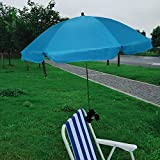 AMMSUN Chair Umbrella with Adjustable Clamp 43 inches UPF 50+, Great for Patio Chairs, Beach Chairs, Strollers, Wheelchairs, and Golf Carts (Sky Blue)