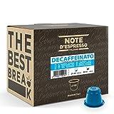 Note d'Espresso Italiano - Cápsulas de Café Descafeinado Compatibles con Afeteras Nespresso, 100 Unidades de 5.6g, Total 560g