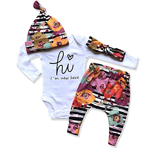 Newborn Baby Girl Clothes Im New Here Infant Newborn Outfit Cute...
