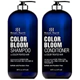 BOTANIC HEARTH Sulfate Free Shampoo and Conditioner for Color Treated Hair - with Special Blend of Conditioning & Color Enhancing Ingredients, Color Safe Shampoo for Men and Women - 16 fl oz each