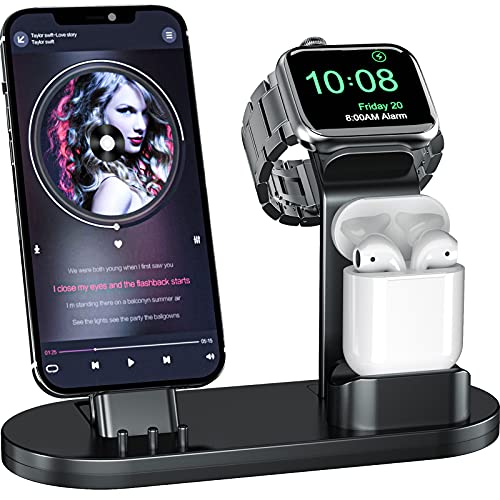 OLEBR 3 in 1 Charging Stand Compatible with Apple...