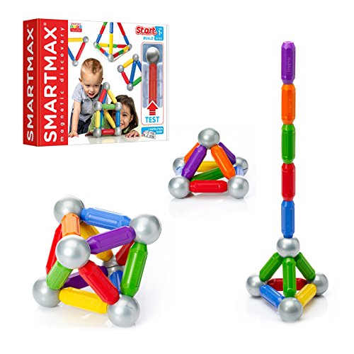 SmartMax Start (23 pcs) STEM Magnetic Discovery Building Set Featuring Safe, Extra-Strong, Oversized Building Pieces for Ages 3+
