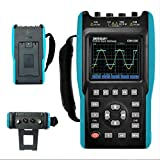 2 in 1 Handheld Digital Storage Oscilloscope Digital Multimeter Color Screen Scope DMM Meter 2 Channels,25MHz