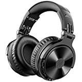 OneOdio Bluetooth Over Ear Headphones - Wireless/Wired 30 Hrs Stereo Bluetooth Headsets Foldable Headset with Deep Bass 50mm Neodymium Drivers for PC/Phone - Studio Wireless(Y80B)