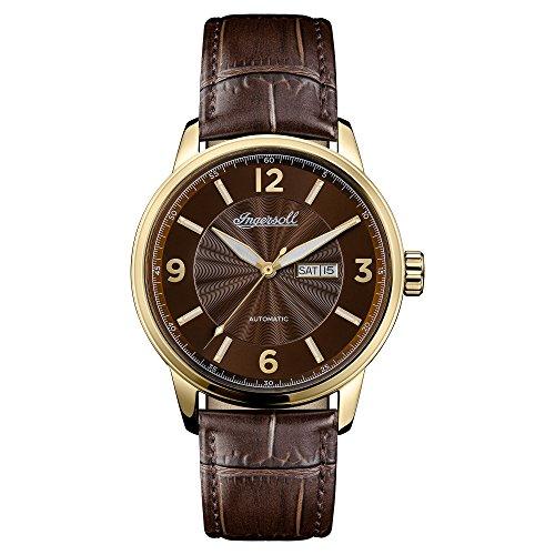 Ingersoll Herren Analog Automatik Uhr mit Leder Armband I00201
