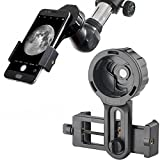 Landove Universal Cell Phone Smartphone Quick Photography Adapter Mount Connector for Telescope Binoculars Monocular Spotting Scope Microscope & and with Cell Mobile Phone