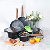 Ultra Nonstick Pots and Pans Set - Granite Stone Coating Dishwasher Safe Kitchen Induction Cookware Sets
