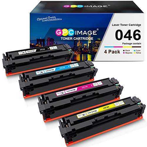 GPC Image Compatible Toner Cartridge Replacement for Canon 046 046H CRG-046 for Color ImageCLASS MF733Cdw MF731Cdw MF735Cdw LBP654Cdw Laser Printer (Black, Cyan, Magenta, Yellow)