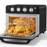 Air Fryer Toaster Oven, Beelicious, 19 Quart/18L Countertop Convection Oven, 7-in-1 Toaster Oven Air Fryer Combo, with 4 Accessories & Recipe, ETL Certified (Black, Matte)