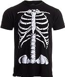 Skeleton Rib Cage | Jumbo Print Novelty Halloween Costume Unisex T-Shirt-Adult,XL Black