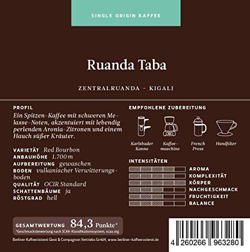BKR | Kaffee | Ruanda Taba | Arabica | Single Origin 250g Bohne