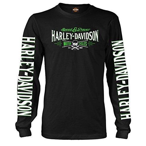 ハーレーダビッドソン ミリタリー - メンズ長袖グラフィックTシャツ - ラムスタインAB   悪役 US サイズ: X-Large カラー: ブラック