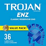 TROJAN ENZ Condoms For Contraception Plus STI Protection, 36 Count, 1 Pack
