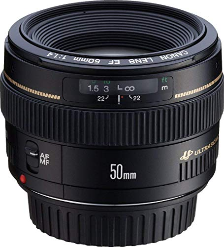 Canon EF 50mm f/1.4 USM Standard and Medium Telephoto Lens for...