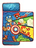 Marvel Super Hero Adventures Avengers Nap Mat - Built-in Pillow and Blanket Featuring Captain...
