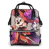 Bolsa de pañales Singer Minnie Mouse Mommy Baby Bag multifunción de gran capacidad de viaje mochila de pañales
