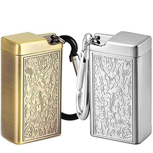 Cendrier Portable, 2 Pièces Cendriers de Voyage Mini Cendrier à...
