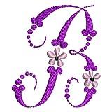 Threadart Machine Embroidery Design Bundles - Floral Alphabet CD - Loaded on USB Stick