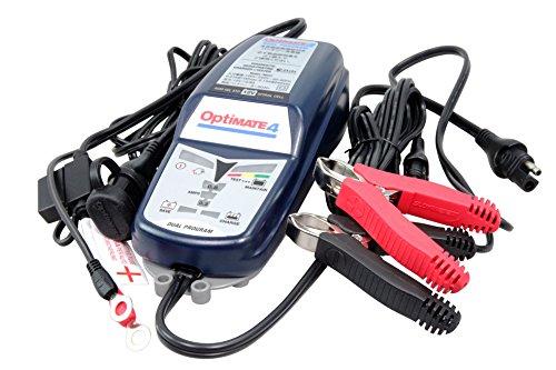 TECMATE ( テックメイト ) バイク用 全自動充電器 オプティメート4 デュアル/Optimate 4 DUAL 車両ケーブル付 国内正規品