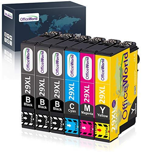 OfficeWorld Sostituzione per Epson 29 29XL Cartucce d'inchiostro Compatibile con Epson XP-342 XP-245...