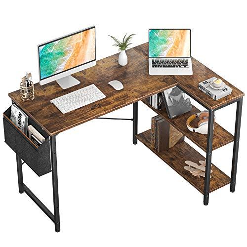Small L Shaped Computer Desk, Homieasy 47 Inch L-Shaped Corner Desk...