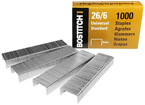 Bostitch 5000 - Punti per cucitrice B440SB / B440LR / B650 / B3000 / B3100 / B5000, spessore punti 12 x 6 mm, 26-06-5MGAL