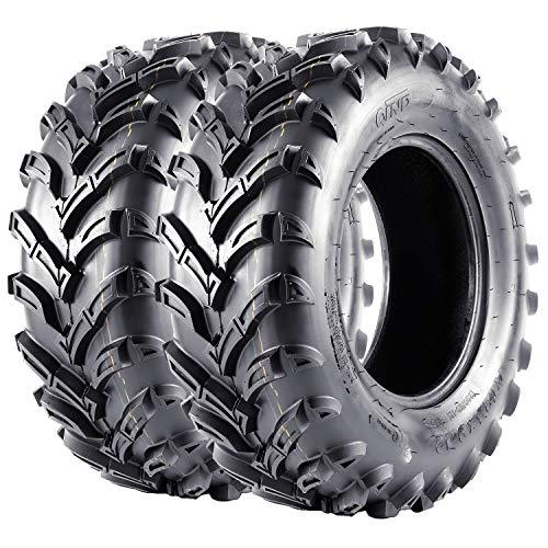 VANACC Set of 2 ATV/UTV Tires 25x8x12 One Pair 12 inch Mud Tire 25x8-12 Tubeless, 6PR