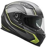 Vega Helmets 60030-013 RS1 Street Sunshield Motorcycle Helmet DOT Certified Full Facerbike Helmet for Cruisers Sports Street Bike Scooter Touring Moped, Bluetooth Comp (Black Slinger Graphic, Medium)