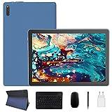 Tablet 10.1 Pollici con 5G WiFi Android 10.0 Quad core 1.6GHz 4GB RAM + 64GB ROM, 128GB Espandibili, ZONMAI Tablet PC con Tastiera e Mouse/8000mAh/Bluetooth 5.0/GPS/Type-C/OTG