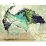 JXMK Color por número Sin Marco Obras de balletPintura al óleo de la Lona de los niños Adultos de DIY para la decoración del hogar 40x50cm