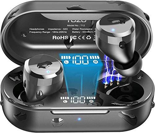 TOZO T12 Auriculares Bluetooth con Control táctil y Estuche de...