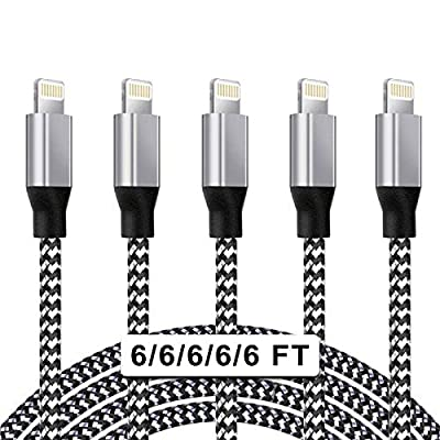 ★【Fast Charging】 High-quality four-core copper wires enhance charging & data transfer speed of the iphone charging cables. Built-In MFi Certified Chipset ensures a faster charging time while keeping your device completely safe. ★【Durability】Nylon bra...