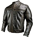 Motorcycle New Distressed Brown Leather Racing Jacket Size Small-4XL (2X-Large)