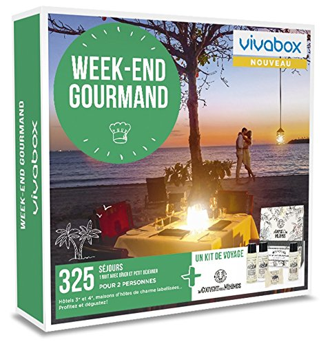 Vivabox - Coffret cadeau couple - WEEK-END GOURMAND- 325 week-ends...