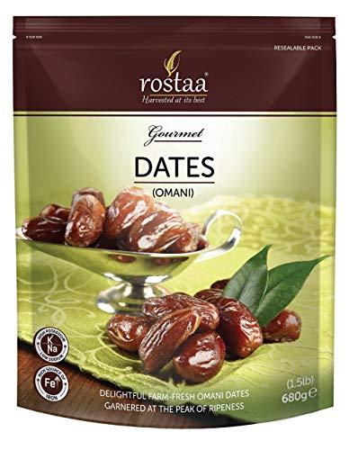 Rostaa Gourmet Dates, Omani, 680g (Gluten Free, Non-GMO & Vegan)