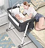 RONBEI Bassinet for Baby, Newborn Bedside Bassinets with Wheel, Co Sleeper for Baby, Infant & Toddler Beds with Cribe Mobile