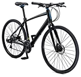 Schwinn Vantage F3 700C Performance Road Bike with Flat Bar and Disc Brakes, 56cm/Medium Frame, Black