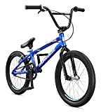 Mongoose Title Pro XXL BMX Race Bike, 20-Inch Wheels, Beginner to Intermediate Riders, Lightweight Aluminum Frame, Internal Cable Routing, Blue