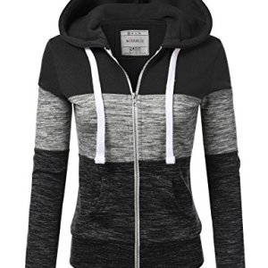 Doublju Lightweight Thin Zip-Up Hoodie Jacket for Women with Plus Size 26