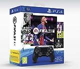 Manette Dual Shock 4 Noir V2 + Fifa 21 + Points Fut + Abonnement Ps+...