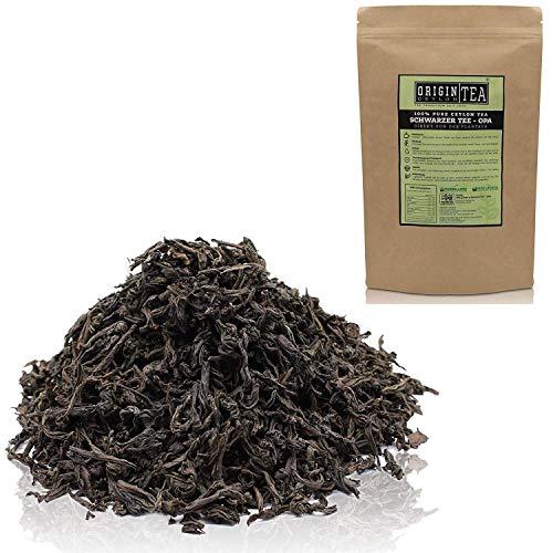 Origin Ceylon Tea 50g (75 Tassen) Bester Schwarzer Tee (OPA) Direkt von der Plantage aus Sri Lanka