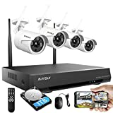 Home Security Camera System, Maysly 8CH 1080P Surveillance NVR Kits with 4pcs 2.0MP Cameras Outdoor & Indoor with 65ft Night Vision, 1TB HDD, Audio & Video, Plug & Play