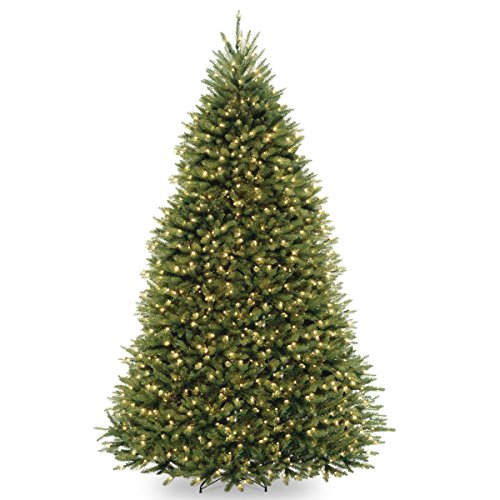 National Tree Company Pre-lit Artificial Christmas Tree | Includes Pre-strung Multi-Color LED Lights, PowerConnect and Stand | Dunhill Fir - 9 ft